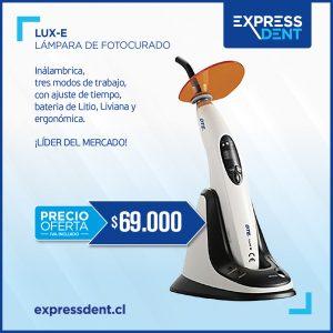 Lámpara de fotocurado LED 800 a 1600 mW/cm2 LUX E