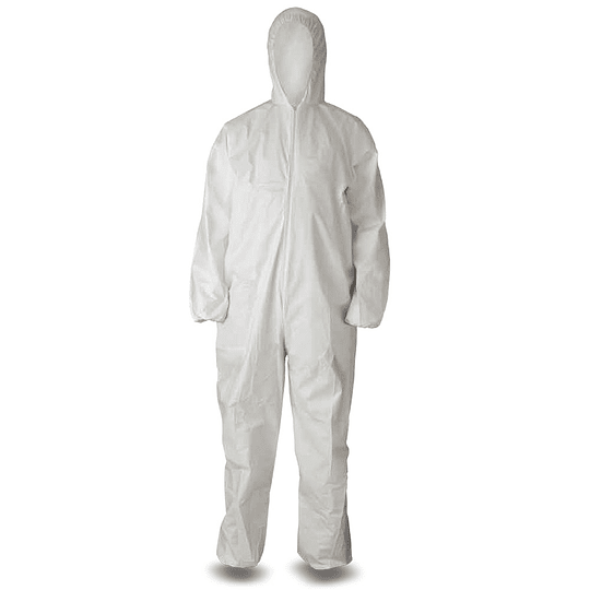 Overol protector Desechable talla única, color Blanco. 60 grs