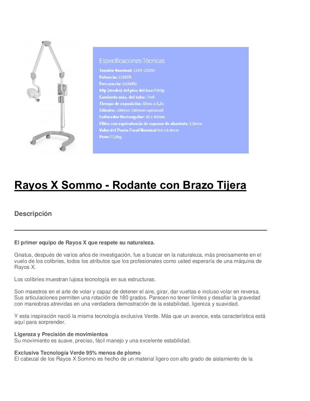 Rayos X Timex E70 – Columna Movil