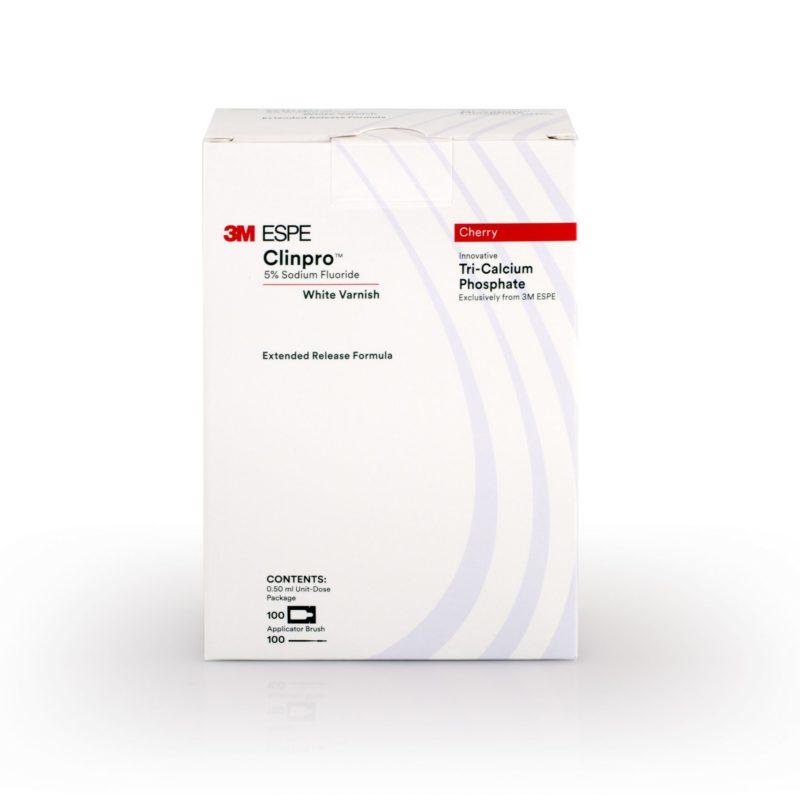 3M™ Clinpro™ White Varnish con Fluoruro de Sodio al 5%, 100 sobres sabor cereza, 12246C